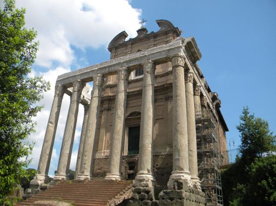 Temple of Antoninus and Faustina Rome, Italy