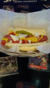 Hot dog in Wrigleyville