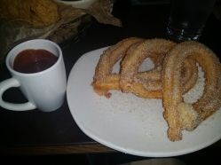 Chocolate and churros at Xoco