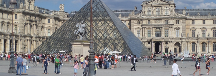 The Louvre pyramid, Paris
