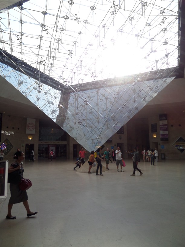 La Pyramide Inversee, Pei, Cobb, Freed, & Partners, 1993. This glass pyramid provides a skylight to the Carrousel du Louvre (shopping area).