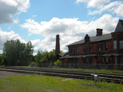 The Potter Street Station (501 Potter St.) built in 1881 is a ruin today, but harkens back to the grand old age of railroad travel.