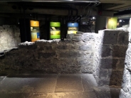 Archaeological exhibit at Pointe à Callière