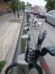 Bixi bike station
