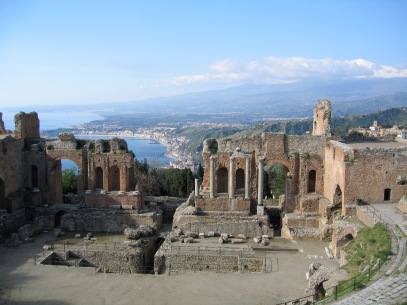 View from Greek Theatre, Photo in public domain by Evan Erickson
