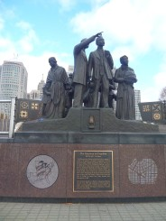 Gateway to Freedom statue, Underground Railroad, Detroit, MI