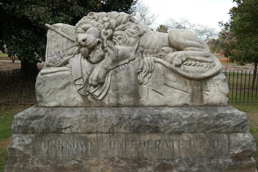 Memorial marking unknown Confederate dead, Civil War history, Atlanta Georgia