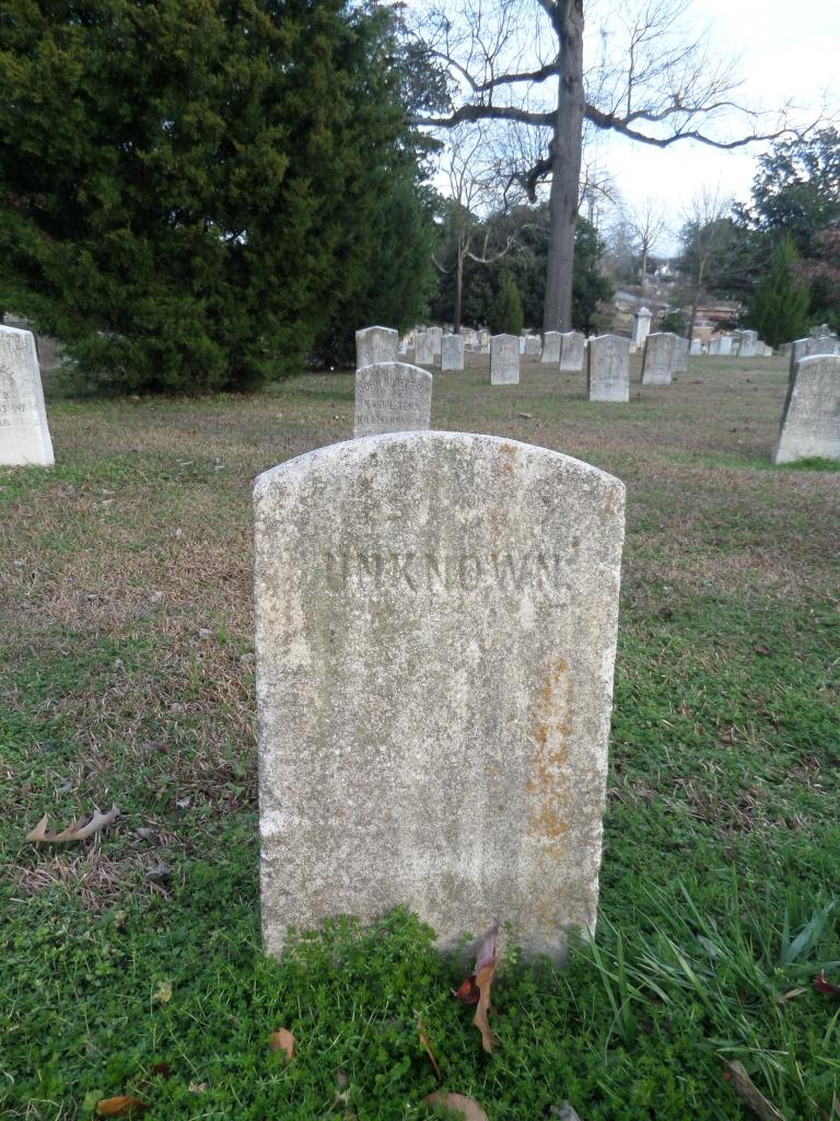 Unknown tombstone, Civil War history, Atlanta Georgia