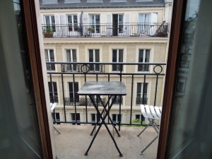 A balcony room in the center of Paris (just steps from Notre Dame) for under 200 Euro a night--in June!