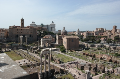 Roman Forum from aerial viewing area