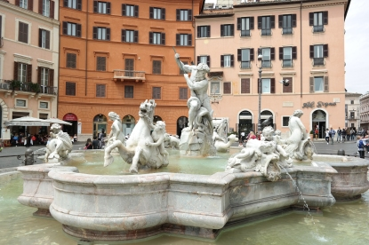 Piazza Navona (not the famous fountain)
