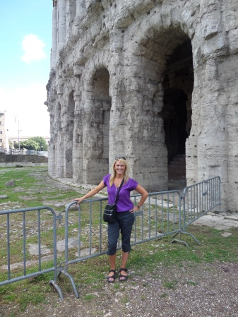 Me hanging out in front of the Theater of Marcellus