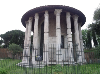 Temple of Hercules Invictus, Rome, Italy, Forum Boarium