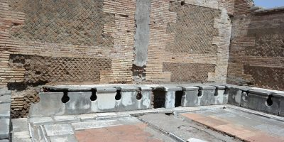 Ancient toilets at Ostia Antica