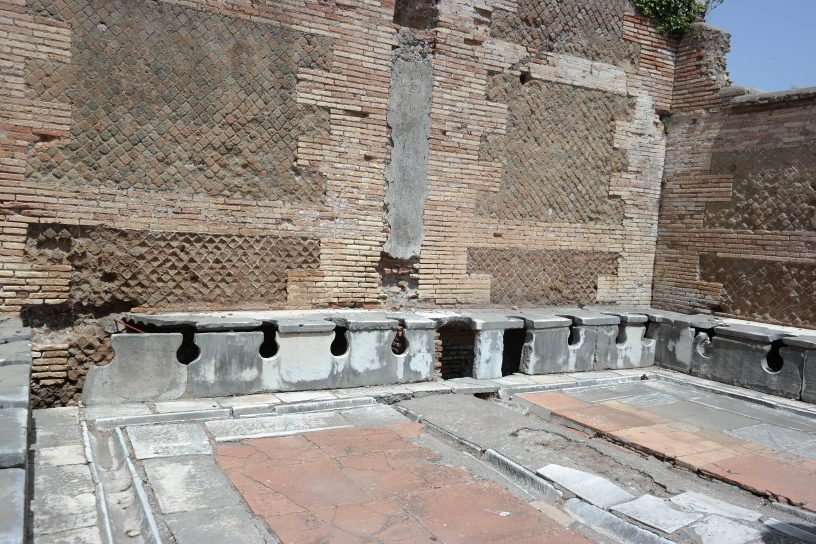 Ancient toilets at Ostia Antica