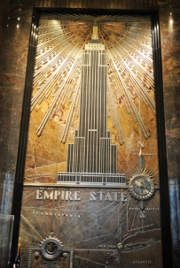 Mural in Lobby of Empire State Building
