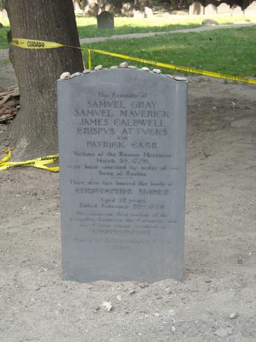 Marker for Boston Massacre victims