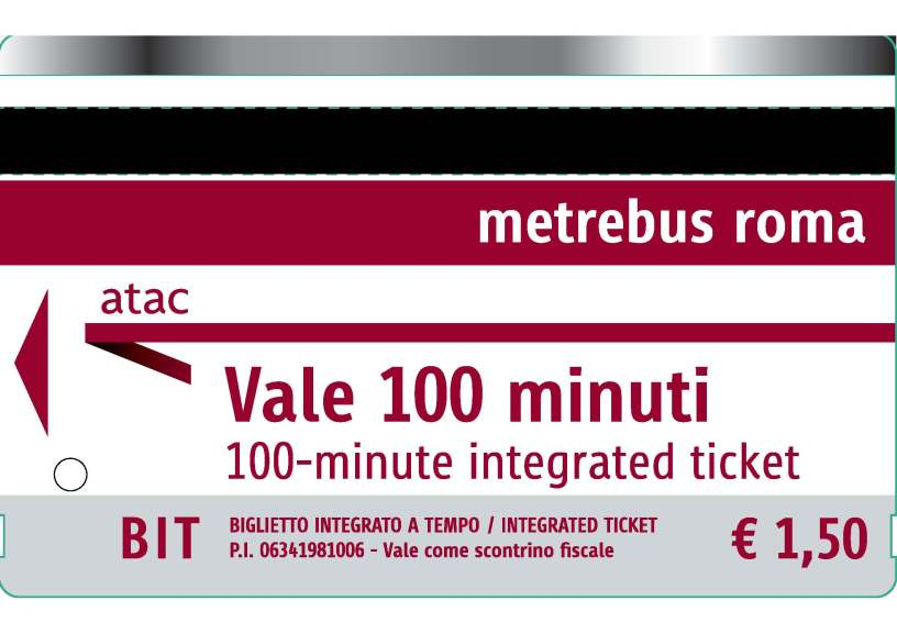 Rome bus ticket