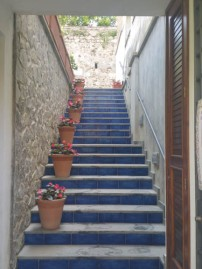 Stairs to more shops