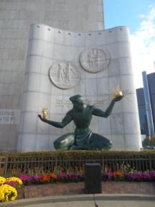 Spirit of Detroit in downtown Detroit