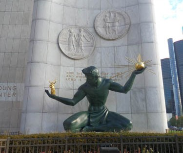 Spirit of Detroit in downtown Detroit