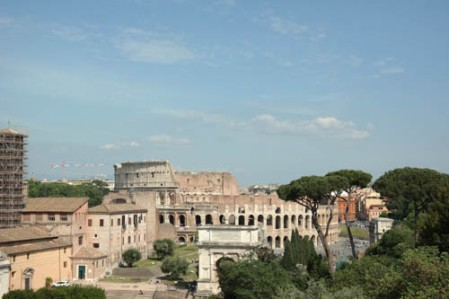 Colosseum from Roman Forum