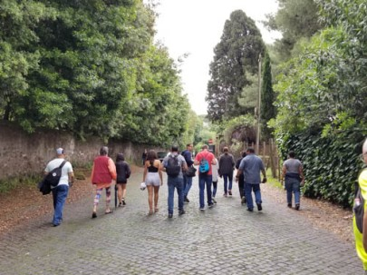 Our group on the Appian Way