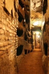 Catacombs in Rome, Italy