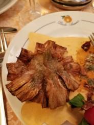 Fried artichoke in Rome, Italy