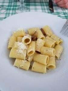 Pasta alla gricia at Hostaria Dino and Tony in Rome