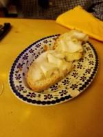 Bruschetta with lardo di Colonnata from Osteria Buongustai