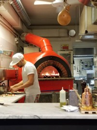 Pizzaman's wood-fired oven