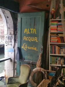 Acqua Alta bookstore in Venice