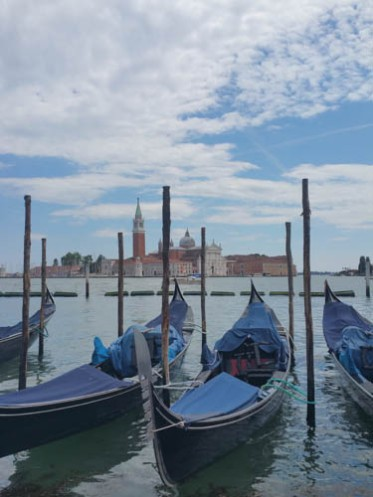 Gondolas in the lagoon.
