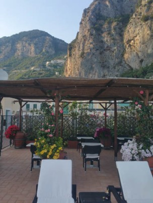 Our Amalfi Hotel's Terrace