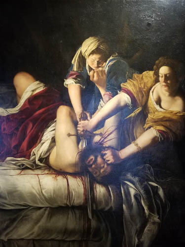 Gentileschi--Judith & Holofernes, Uffizi Gallery, Florence, Italy