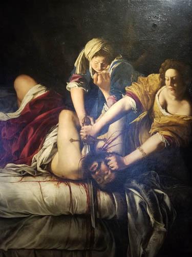Gentileschi--Judith & Holofernes