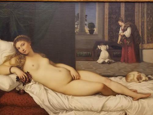 Titian--Venus of Urbino, Uffizi Gallery, Florence, Italy