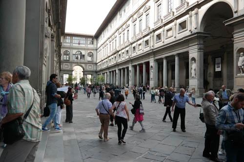 Uffizi Courtyard, Uffizi Gallery, Florence, Italy