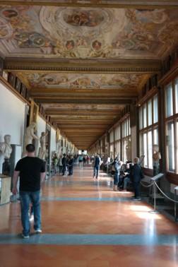 Uffizi hallway, Uffizi Gallery, Florence, Italy