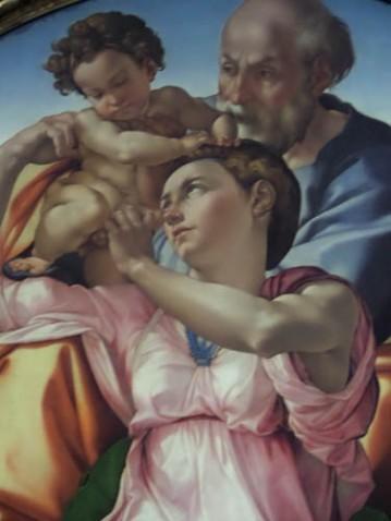 Michelangelo--Doni Tondo, Uffizi Gallery, Florence, Italy