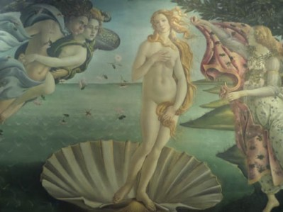 Botticelli--Birth of Venus, Uffizi Gallery, Florence, Italy