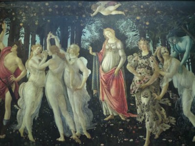 Botticelli--Primavera, Uffizi Gallery, Florence, Italy
