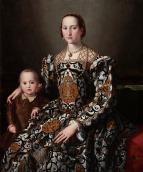 Eleanora of Toledo & Her Son by Agnolo Bronzino c. 1545-1550