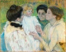 Women Admiring a Child by Mary Cassatt 1897