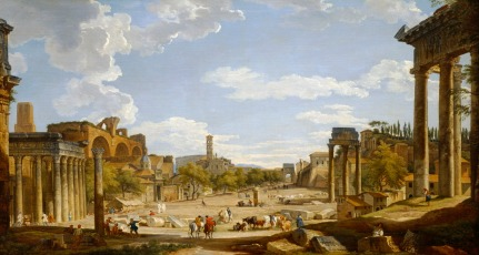 View of Roman Forum by Giovanni Panini 1735