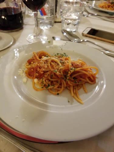 Spaghetti arrabbiata at Toscanella Osteria in Florence