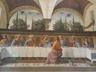 Last Supper by Ghirlandaio in Florence, Italy