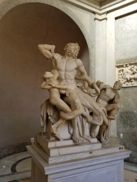Laocoon statue in Vatican Museums