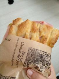 Pizza bianca with mortadella from Campo Forno